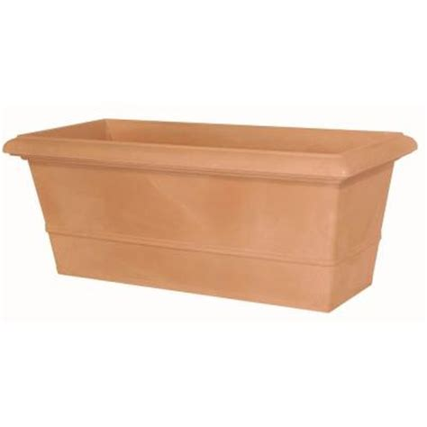 Rectangular Terracotta Planters by Marchioro 39 5 In Terra Cotta Rectangle Planter Pot 364061 The Home Depot