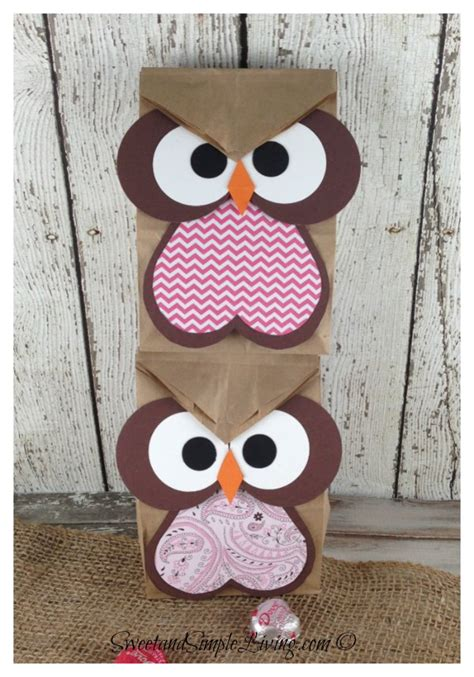 Owl Paper Bag Craft - owl crafts easy treat bag for sweet