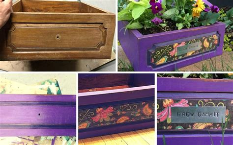 cool diy projects drawer becomes a planter pretty