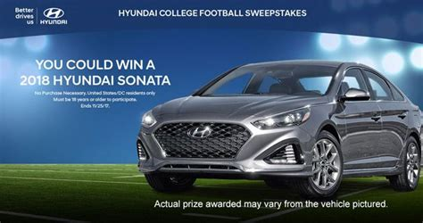 Hyundai Sweepstakes - hyundai college football sweepstakes 2017