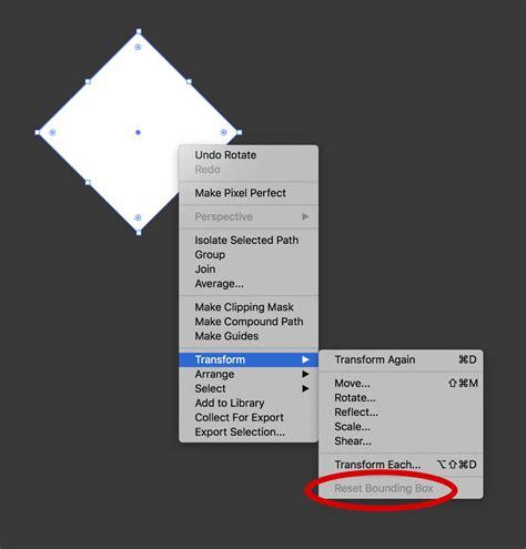 illustrator pattern bounding box illustrator cc 2017 reset bounding box missing on square