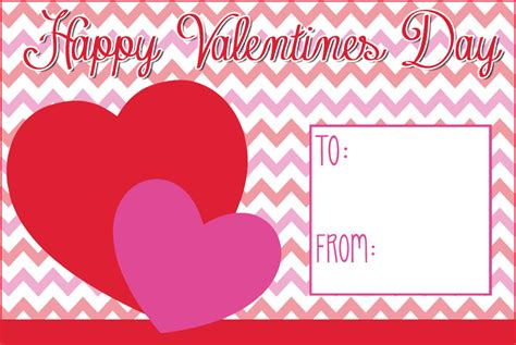 free beautiful printable valentine s day card design