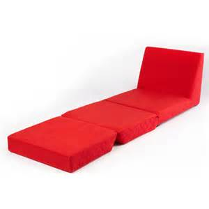Red folding z bed single chair bed 2 seat sofa fold out guest beds