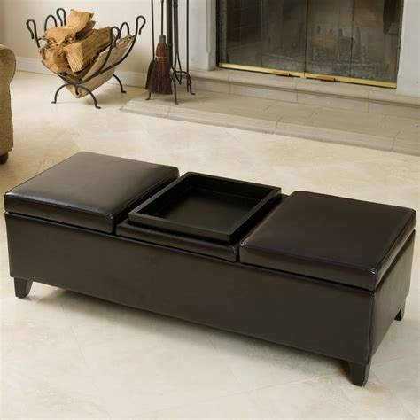 best selling home decor furniture llc 36 top brown leather ottoman coffee tables
