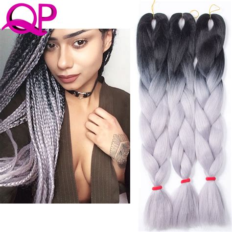kanekolan hair black white grey aliexpress com buy 10pcs lot two free shiping ombre gray