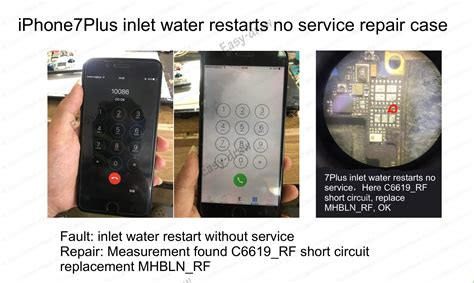 iphone 7 plus no service after water damage solution ways rehot cpu bro