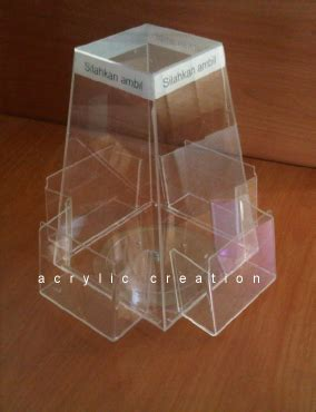 Acrylic Kotak Serbaguna Akrilik Serbaguna tempat brosur tb 34 acrylic akrilik acrylic display