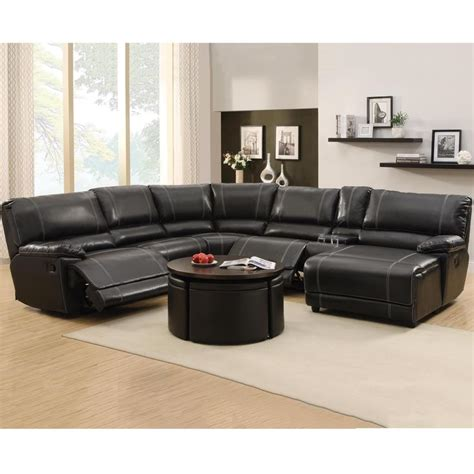 Bantal Sofa Vanderly Black 40 X 40 flynn black bonded leather reclining sectional sofa with console and chaise reclining