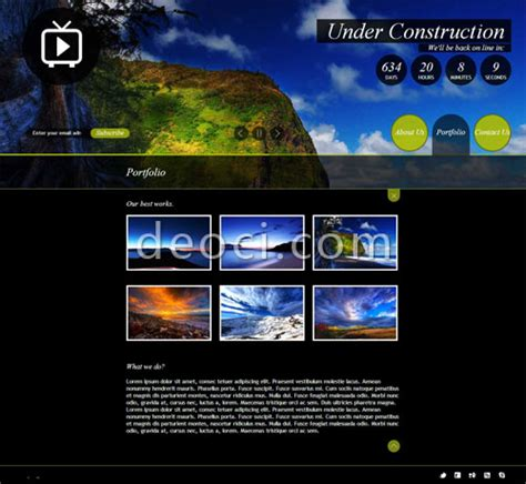 Cool Html Templates by 2012 Best Html5 Cool Website Design Template Scenic