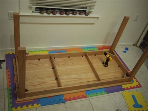 diy attach table legs 17 best images about diy board on table legs and oak