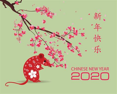 year   rat chinese  year  wallpaper happy  year