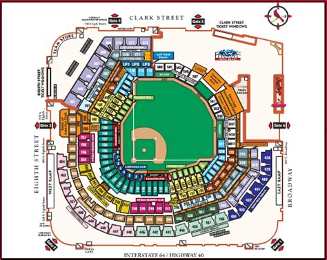 busch stadium section map busch stadium review from forbes to federal