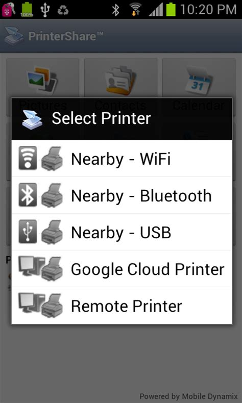 print from android printershare mobile print android apps on play
