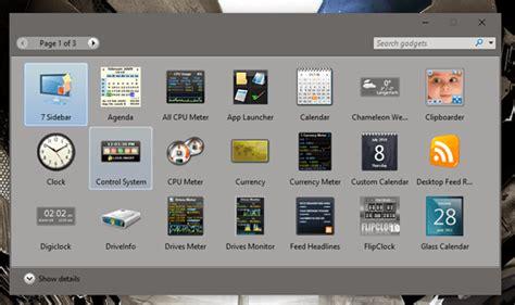 install windows 10 gadgets how to get back desktop gadgets on windows 10