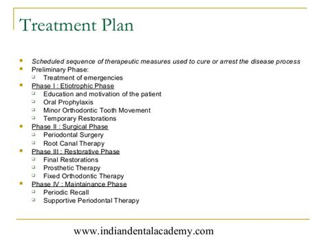 dental treatment plan presentation template history diagnosis in periodontics certified fixed