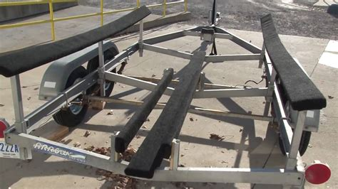 boat trailer bunk replacement boat trailer bunk carpet replacement part 2 youtube