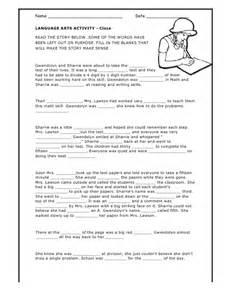 cloze activity worksheet
