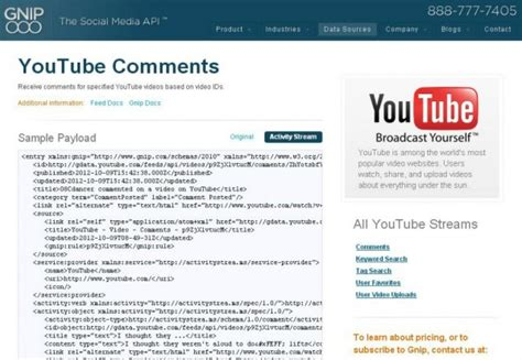format youtube comments keep track of youtube video feedback with gnip s youtube