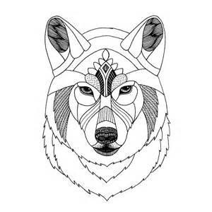 Zentangle Templates by Zentangle Wolf Template Diy Animal Tangle Origami Zoo