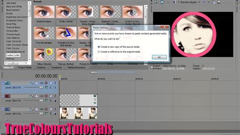 tutorial editing vegas pro 11 sony vegas effect tutorial 11 clock wipe cookie cutter
