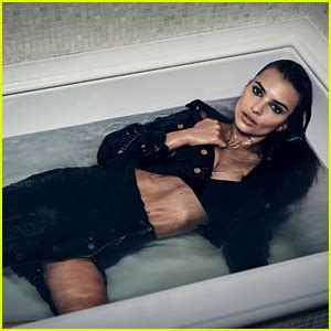 emily naked in the bathroom emily ratajkowski takes a bath in dl1961 caign 15