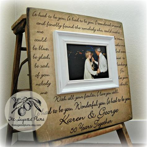 parents anniversary gift personalized picture frame custom