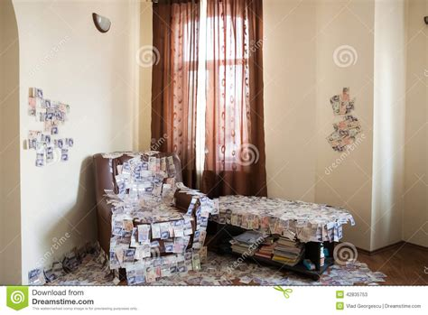 a room full of financial success a room full of money uk pounds sterling gbp stock image image 42835753