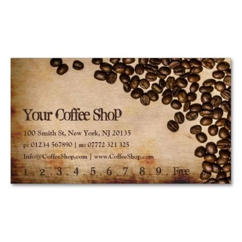 Coffee Business Card Template Free by 29 Best Images About Coffee Shop Loyalty Card Templates On