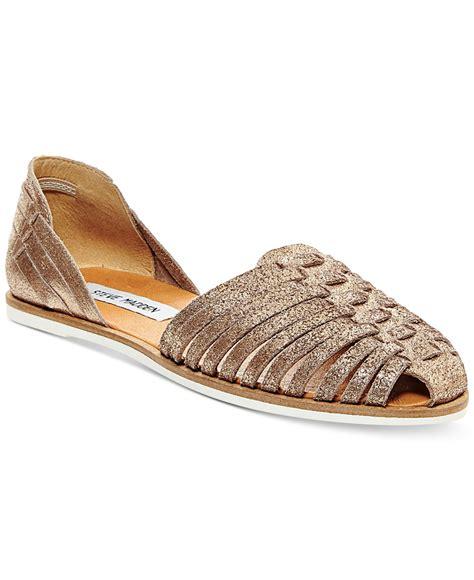 slip in sandals lyst steve madden s hillarie huarache slip on