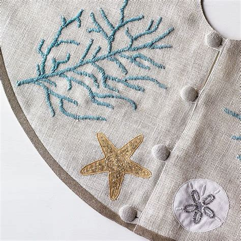 gorgeous coastal christmas tree skirt nautical coastal