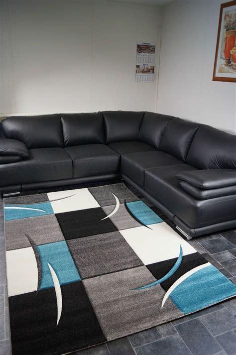 tappeto nero moderno tappeto moderno fatto a mano nero grigio turchese