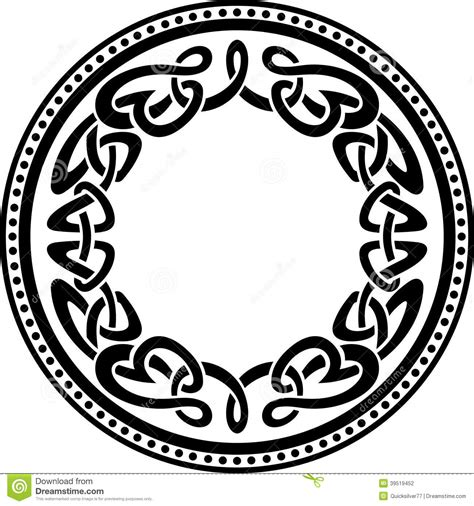 celtic round pattern border stock vector image 39519452