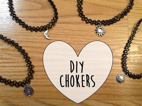 how to make tattoo choker tutorial choker necklaces handmade jewelry ideas
