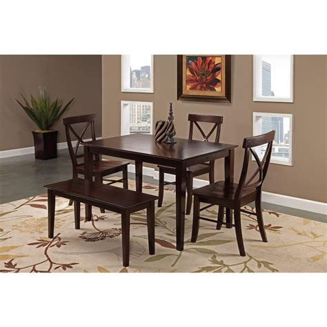 international concepts rich mocha skirted dining table t15