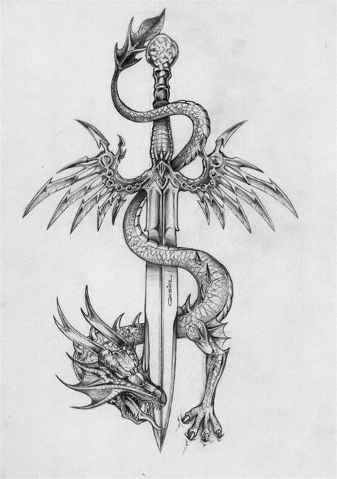 tattoo dragon and sword the dragon and the sword flyin by gesielmac on deviantart