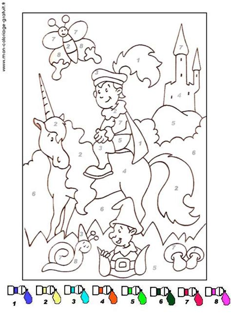 Coloriage Magique Prince Charmant Mon Coloriage En Ligne