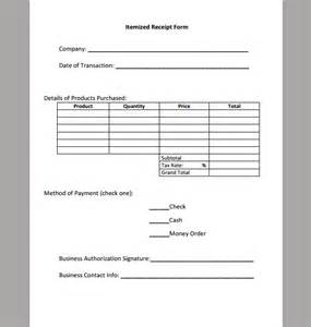 itemized bill template best photos of itemized invoice template itemized