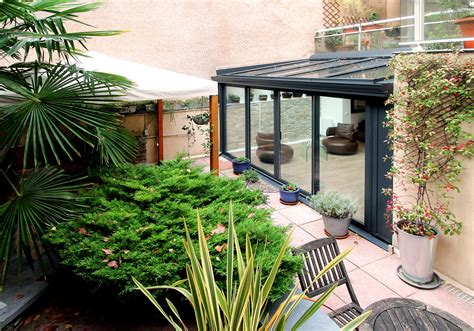 Veranda Zen by R 233 Novation V 233 Randa Alu Anthracite Sur Jardin Zen 75019