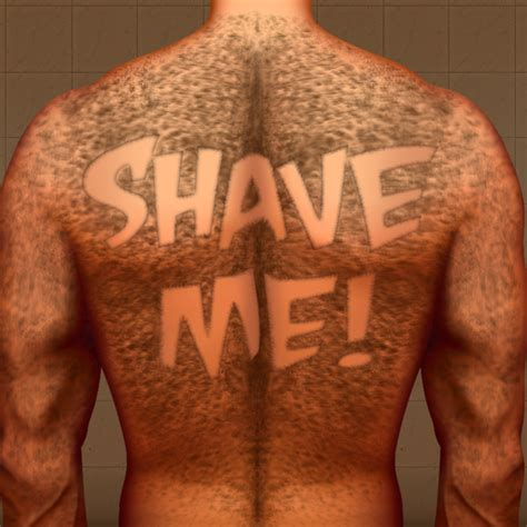 amazon com hairy back shaving the tattoo man bear hair