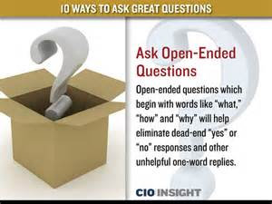10 ways to ask great questions