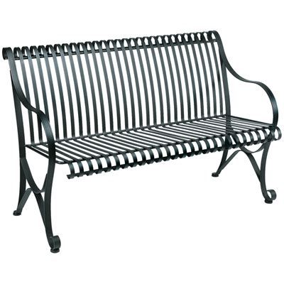 waymar wrought iron outdoor patio bench rb 830