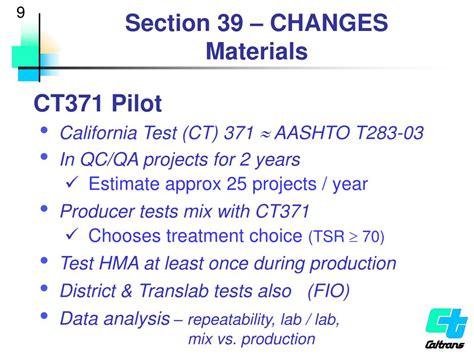 section 9 hma ppt caltrans changes section 39 hot mix asphalt
