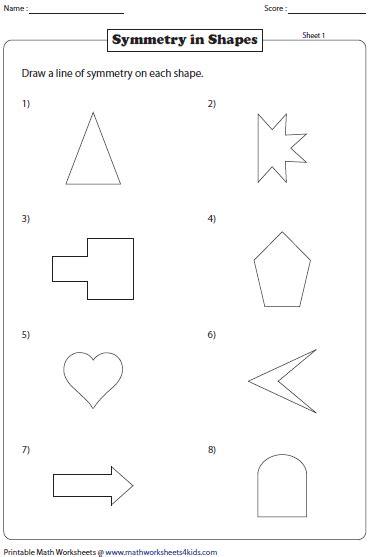 line pattern in maths free worksheets 187 pattern symmetry worksheets free math