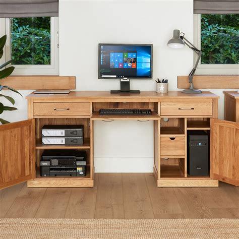 the villiers large pedestal desk home office desk mobel oak large hidden office twin pedestal desk wooden