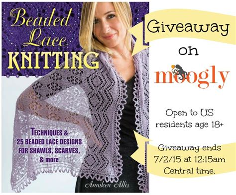 Knitting Giveaway - beaded lace knitting review and giveaway moogly