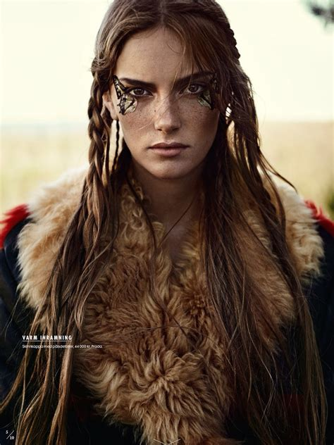 celtic warrior hair braids tribal gypsy nomad style in elle sweden 2018