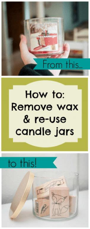 how to get wax out of a candle best 25 old candle jars ideas on pinterest reuse candle