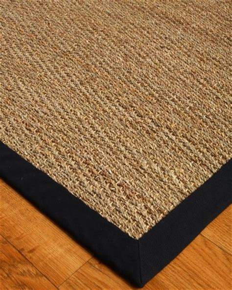 Custom Seagrass Rug by Four Seasons Seagrass Rug Black 8 X 10 100 Cotton