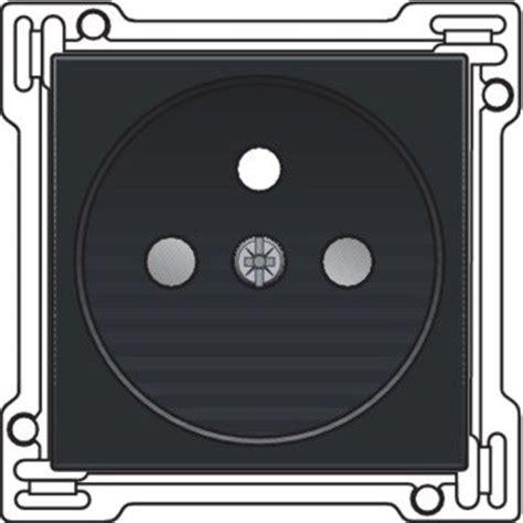 0001146556 black earth op piano afwerkingsset stopcontact inbouwdiepte 21mm piano zwart