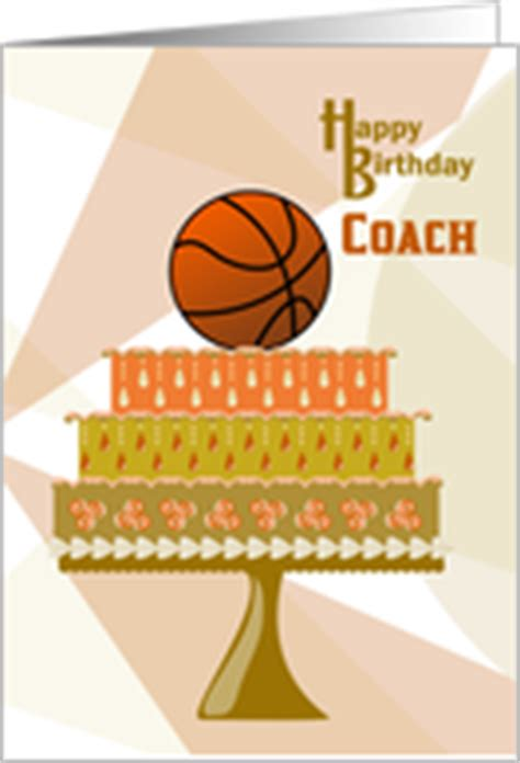 printable birthday cards basketball basketball coach birthday cards from greeting card universe